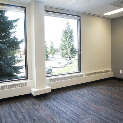 office with windows